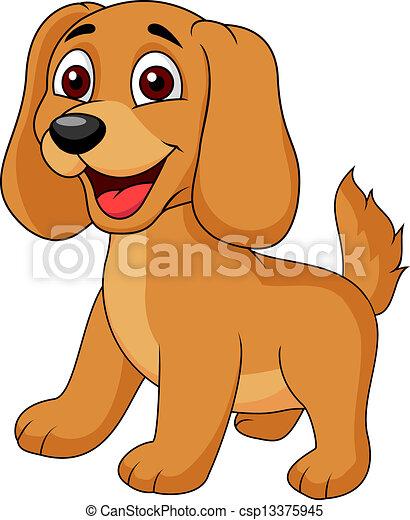牛鹿漫画_かわいい, 子犬, 漫画. かわいい, ベクトル, 子犬, イラスト, 漫画.