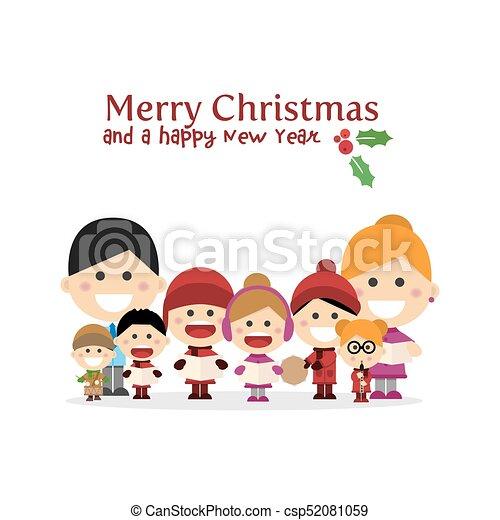 かわいい 家族 キャロル 夜 歌うこと クリスマス かわいい 家族 キャロル
