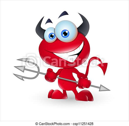 かわいい, 悪魔, モンスター - csp11251428