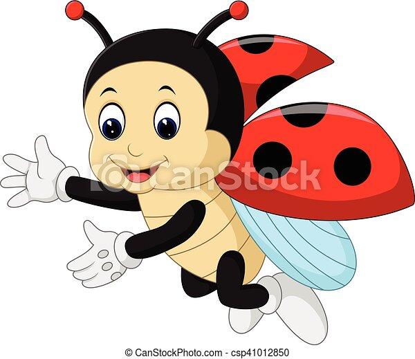かわいい, 漫画, てんとう虫 - csp41012850