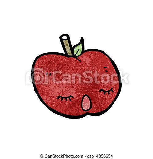 かわいい, 漫画, アップル - csp14856654