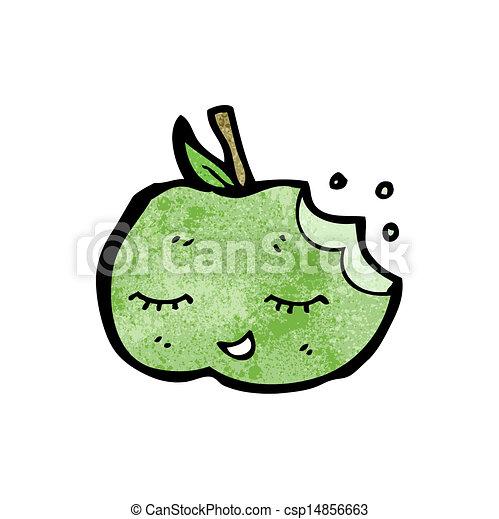 かわいい, 漫画, アップル - csp14856663