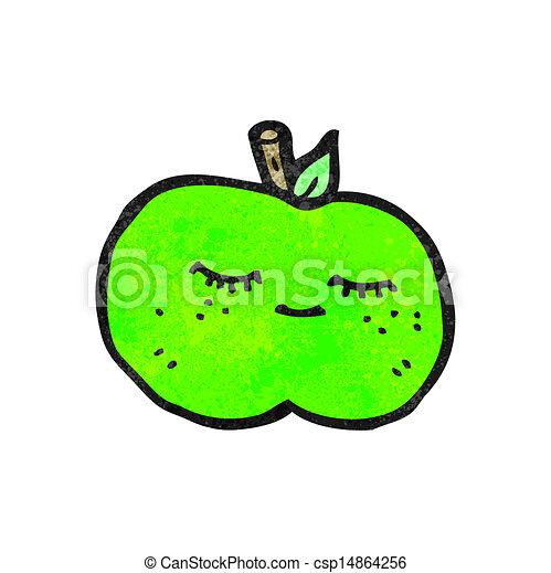 かわいい, 漫画, アップル - csp14864256