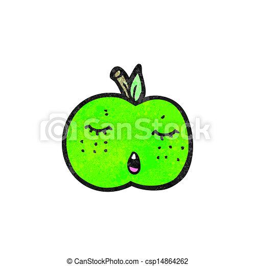 かわいい, 漫画, アップル - csp14864262