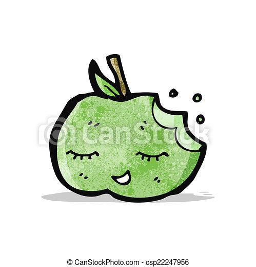 かわいい, 漫画, アップル - csp22247956