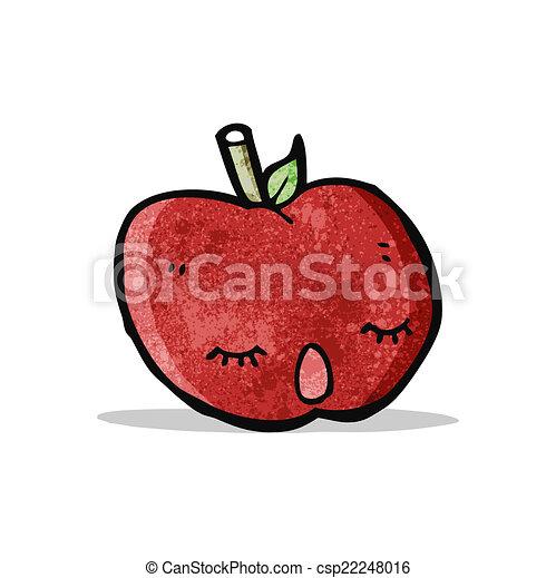 かわいい, 漫画, アップル - csp22248016