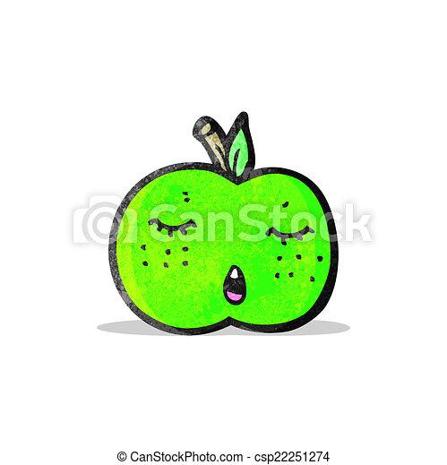 かわいい, 漫画, アップル - csp22251274