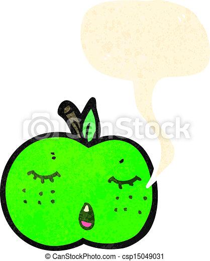 かわいい, 漫画, アップル - csp15049031