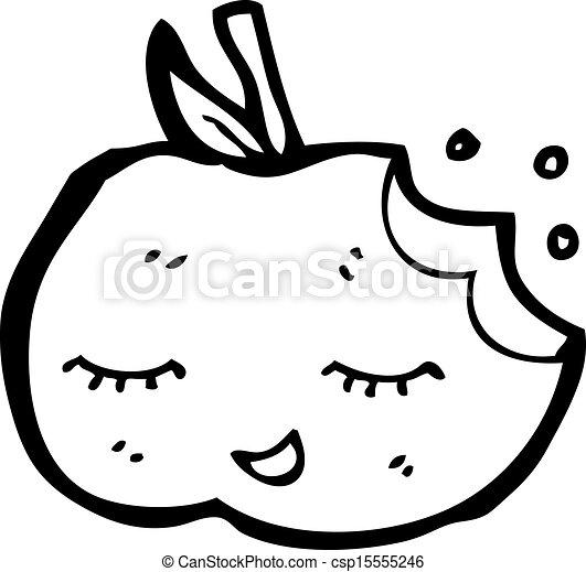 かわいい, 漫画, アップル - csp15555246