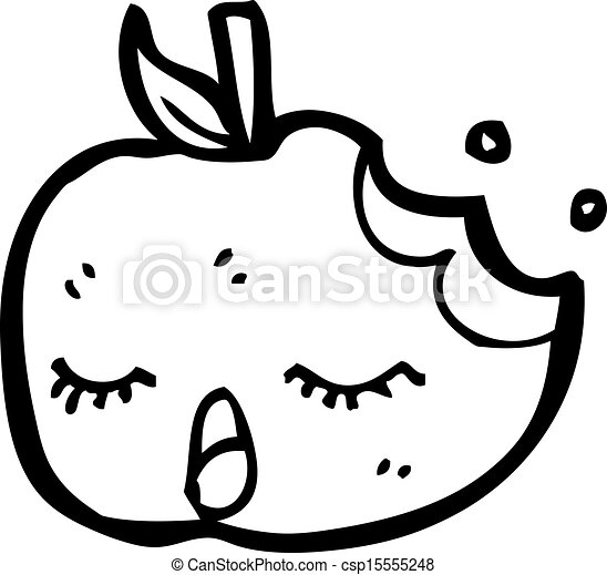 かわいい, 漫画, アップル - csp15555248
