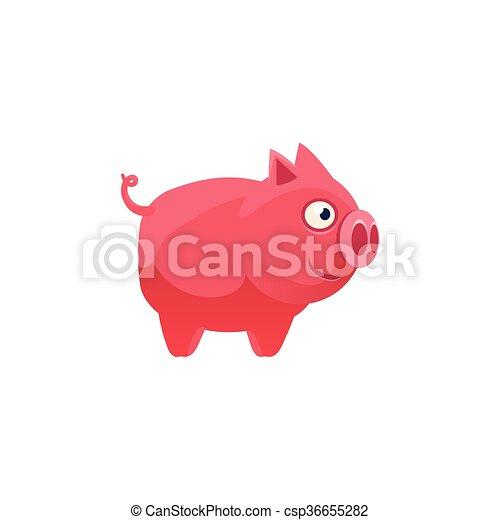 かわいい 簡単にされている イラスト 豚 かわいい カラフルである