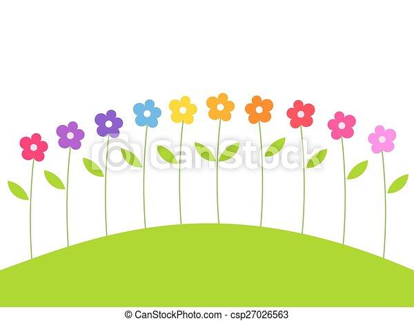 かわいい 花 かわいい カラフルである 春 イラスト 成長する