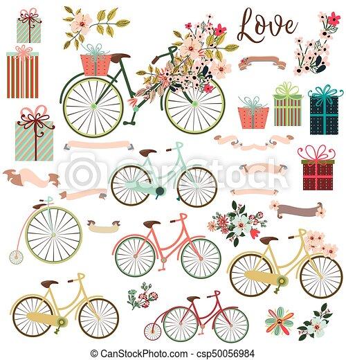 かわいい 要素 自転車 大きい Flowerseps コレクション