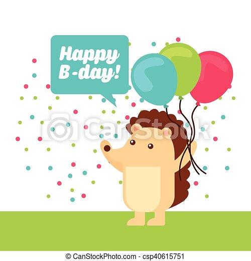 かわいい 誕生日パーティー 動物 祝福 かわいい Birthday ベクトル
