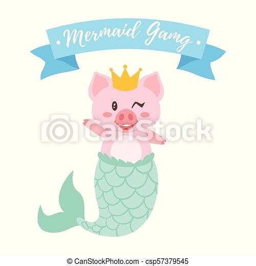 かわいい 豚 王冠 金 かわいい スタイル 金 Mermay Concept