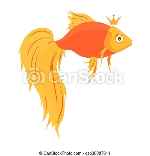 かわいい 金の魚 イラスト Background ベクトル 白 漫画