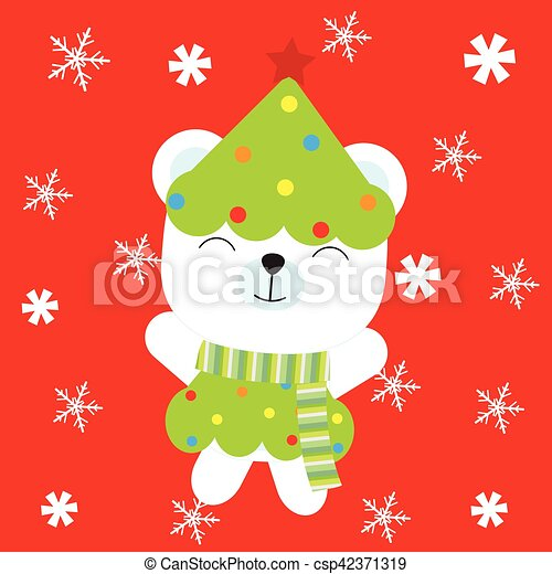かわいい 雪片 イラスト 熊 背景 赤ん坊 クリスマス 子供
