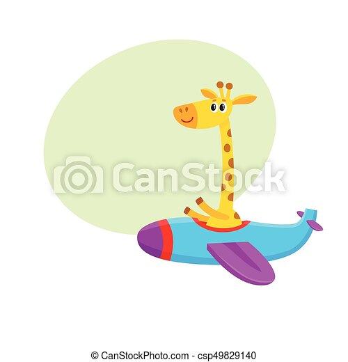 かわいい 面白い 飛行 特徴 イラスト キリン 飛行機 漫画