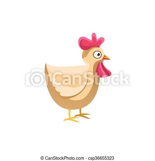 かわいい 鶏 簡単にされている 成人 イラスト