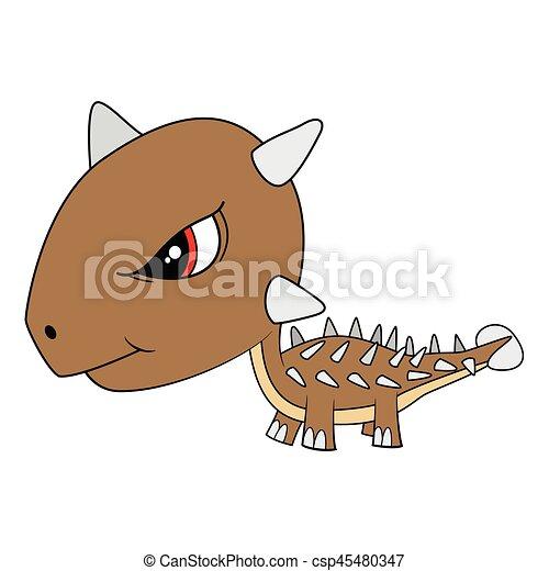 かわいい Ankylosaurus イラスト 恐竜 赤ん坊 漫画