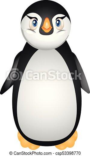 かわいい Illustration 平ら ベクトル デザイン 漫画 ペンギン