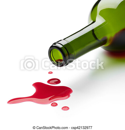 こぼれること, 赤ワイン - csp42132977