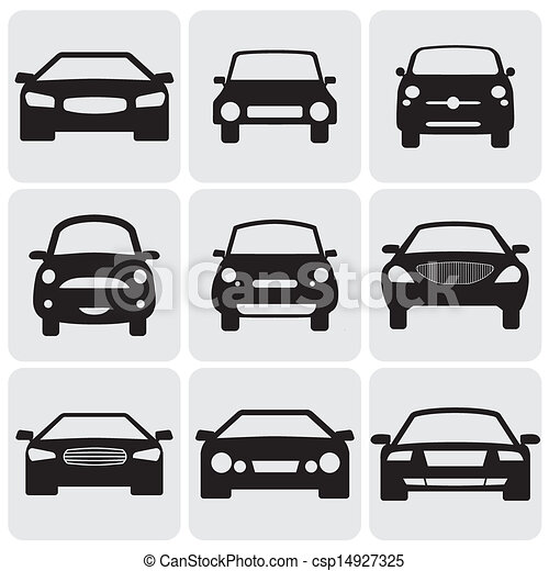 これ, 色, 贅沢, graphic., に対して, シンボル, 側, コンパクト, view-, icons(signs), ベクトル, 前部, 自動車, イラスト, 黒い背景, 表す, 白, car's, 9, 乗客 - csp14927325