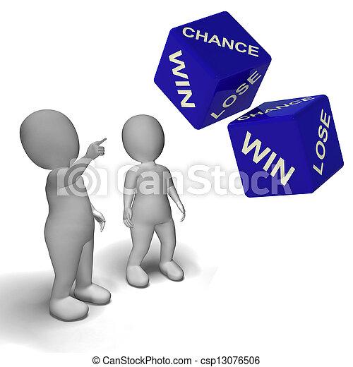 さいころ, 勝利, チャンス, 失いなさい, ショー, 運 - csp13076506