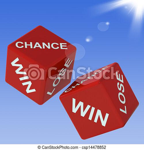 さいころ, 失いなさい, チャンス, ショー, 勝利, ギャンブル - csp14478852