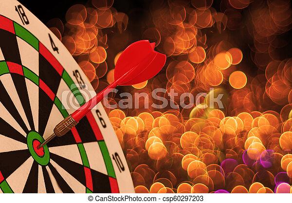 さっと動きなさい, 休日, bokeh, ターゲット, ダート盤, ライト, クリスマス, 赤い矢印 - csp60297203