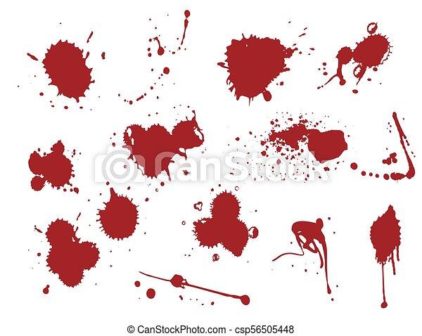 しみ 液体 はね返し スポット イラスト パッチ ベクトル 血
