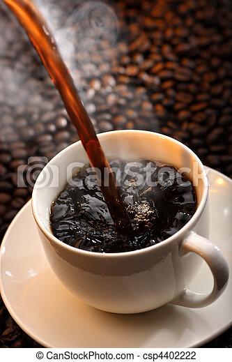たたきつけるコーヒーノキ - csp4402222
