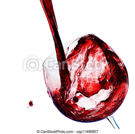 たたきつける赤ワイン - csp11496857