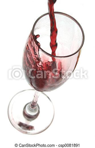 たたきつける赤ワイン - csp0081891