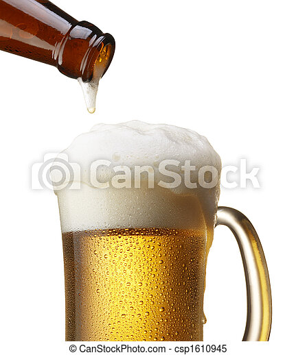たたきつける, ビール - csp1610945