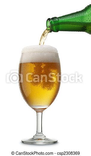 たたきつける, ビール - csp2308369