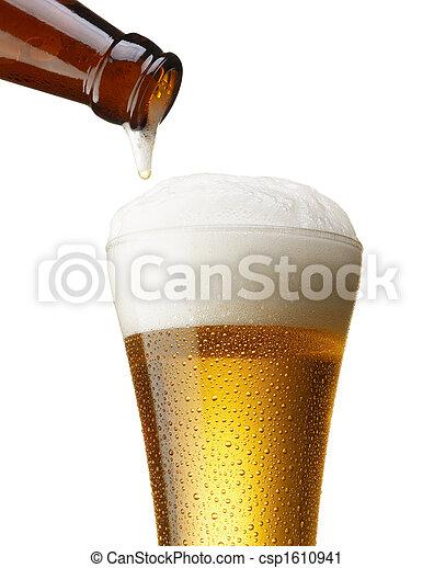 たたきつける, ビール - csp1610941