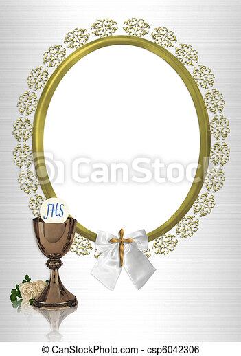 だ円形のフレーム, 聖餐, 最初に - csp6042306