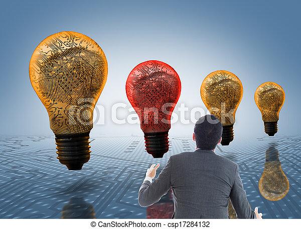 つかまえること, 合成の イメージ, ビジネスマン - csp17284132