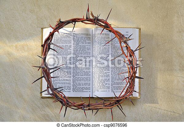 とげ, 聖書, 王冠 - csp9076596