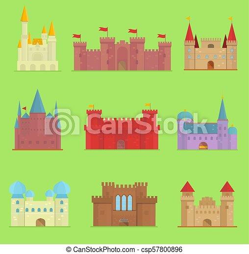 とりで かわいい 中世 妖精 家 Fairytale Castleworld 隔離された イラスト 漫画 物語 ファンタジー 城 ベクトル デザイン 建築 寓話 タワー アイコン Castle