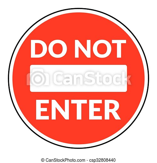 ない, 入りなさい, 印 - csp32808440