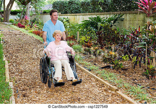 によって, 散歩しなさい, 庭 - csp1227549