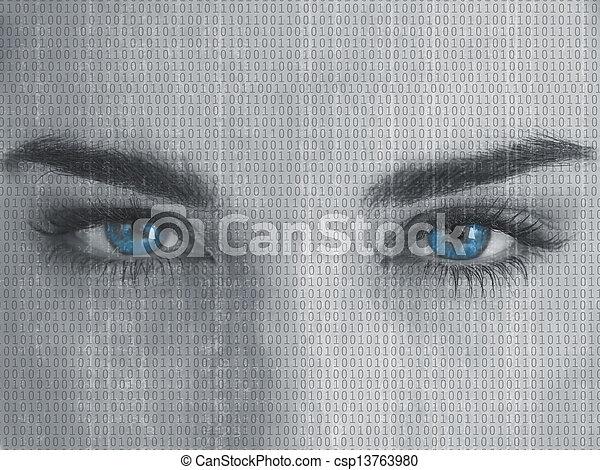 の上, 目, 終わり - csp13763980