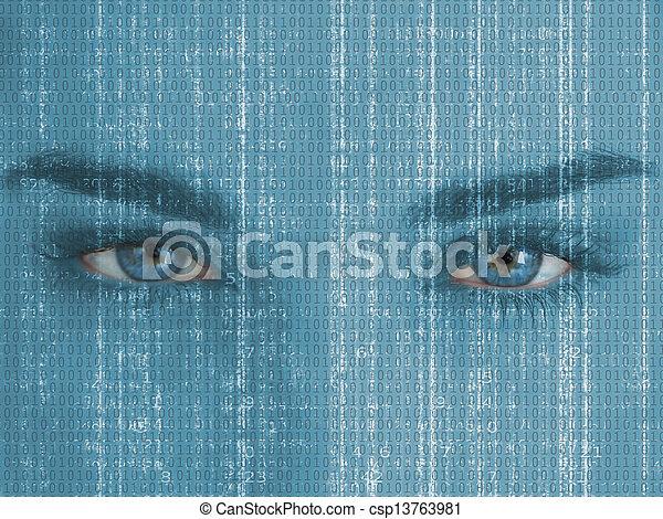 の上, 目, 終わり - csp13763981