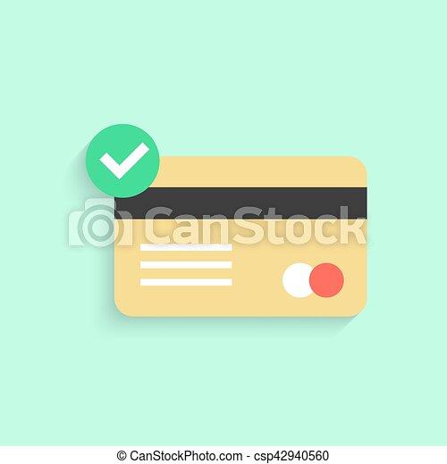 はい, 印, クレジット, 影, チェックカード - csp42940560
