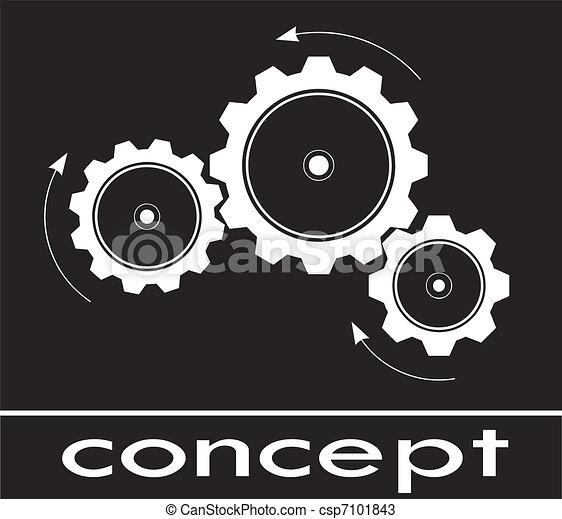 はめば歯車, 概念, スケッチ, 考えなさい - csp7101843