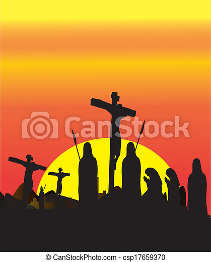 はりつけ, キリスト, イエス・キリスト - csp17659370