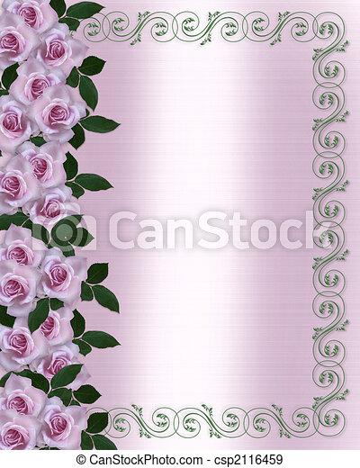 ばら, 結婚式, ラベンダー, 招待 - csp2116459