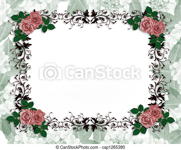 ばら, 結婚式, orname, 赤, 招待 - csp1265380